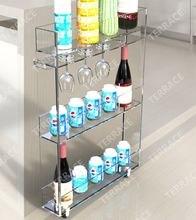 Вращающаяся акриловая кухонная стойка для хранения с держателем