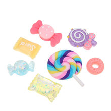 30pcs DIY Scrapbooking Crafts Making Supplies Accessories Resin For Phone Case Cute Jewelry Slime Beads Colorful Candy Flatbacks(China)