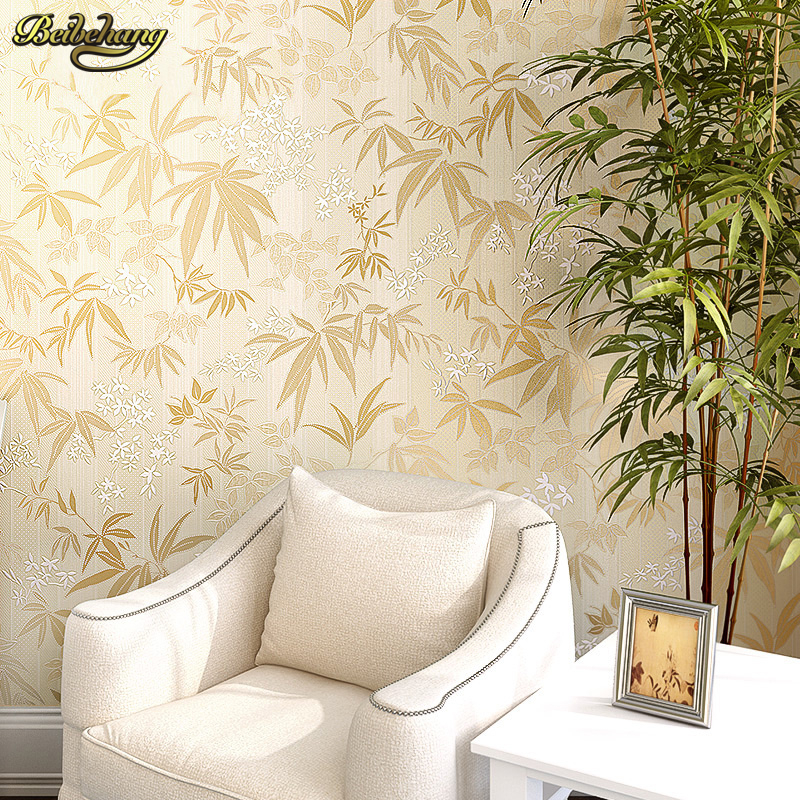 beibehang papel de parede 3D Warm Pastoral Bamboo Wallpaper Bedroom Nonwoven Pastoral Wall paper Living Room TV Backdrop bedroom beibehang 3d precision three dimensional nonwoven papel de parede 3d wallpaper classic warm living room bedroom wallpaper tapety