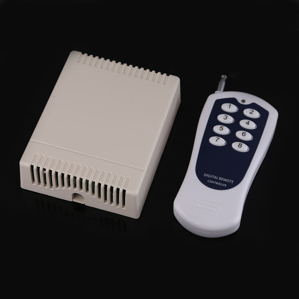 12V 8 CH channel RF Wireless Remote Control Switch & Remote Control System Receiver Transmitter 315MHz 8CH Relay NC NO COM 12v 8 ch channel rf wireless remote control switch