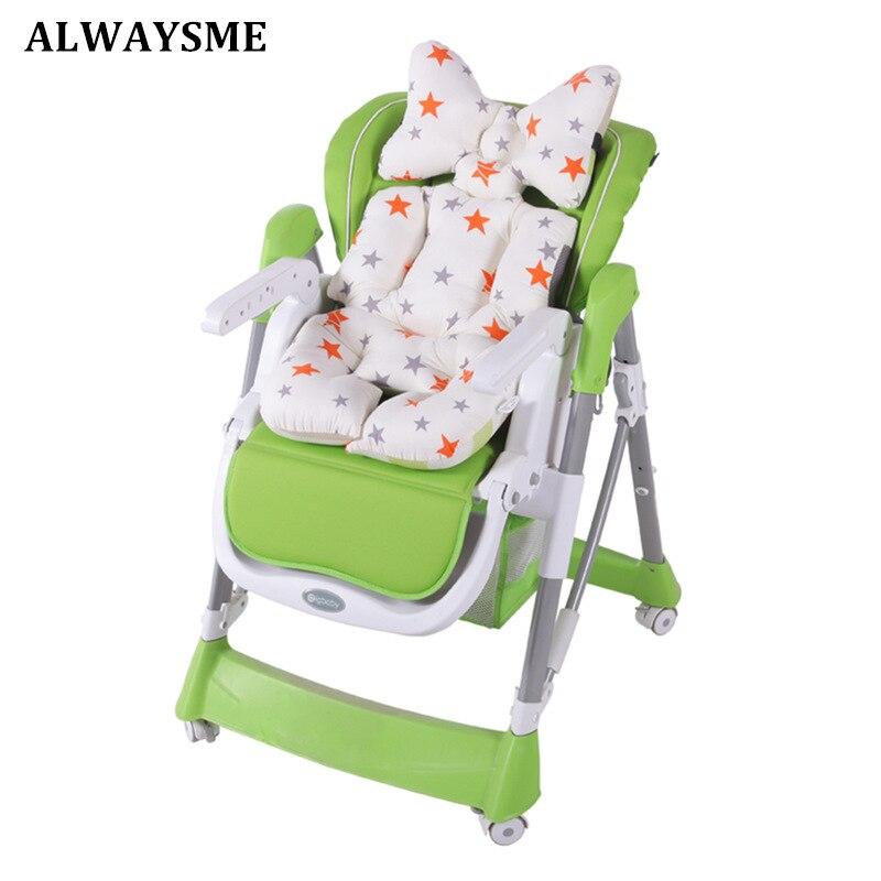 Alwaysme Baby Kids Children High Chair Cushion Cover Booster Mats Pads Feeding Chair Cushion Stroller Seat Cushion Expesnsive