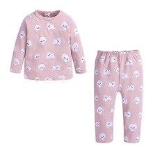 Pink Girls Pajamas Set,Long Sleeve Cotton for Kids