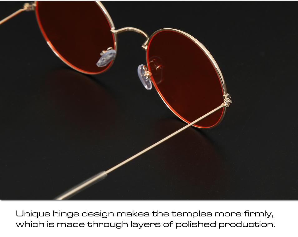 Women's Round Mirror Sunglasses 19