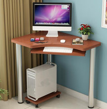 80*60*74CM Modern Computer Desk Bedroom Corner Table Writing Desk With Keyboard & Mainframe Tray(China)
