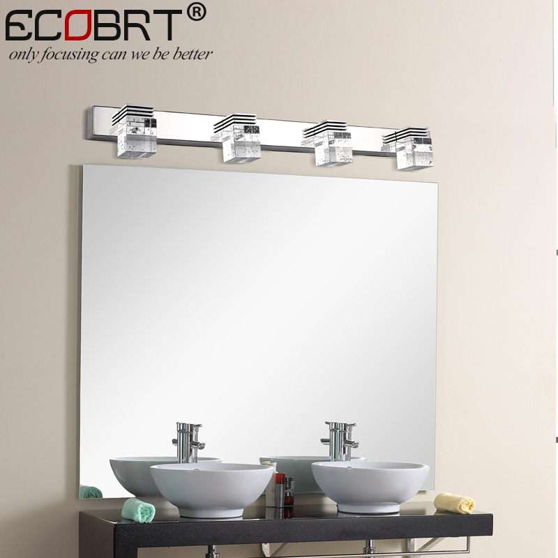 Modern 12W LED Wall Light Sconces Lamps High Crystal Wall Lights in Bathroom 61cm long chrome finishing Top Mirror Light 220V AC traditional classic metal silvery electroplating led bathroom mirror light led wall lamps light wall sconces 1 light ac