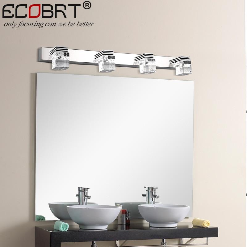 Modern 12W LED Wall Light Sconces Lamps High Crystal Wall Lights In Bathroom  61cm Long Chrome