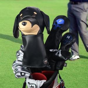 Image 3 - Artisan Golf pilote Animal couvre chef teckel/bouledogue/paresseux 460cc couverture de conducteur pour Clubs bois couverture cuir PU