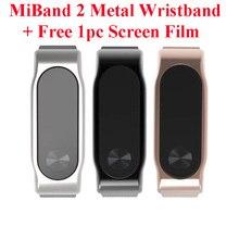 Xiaomi Mi band 2 нержавеющая сталь браслет металлический ремешок Браслеты безвинтовое браслет из нержавеющей стали для сяо mi Группа 2 заменить
