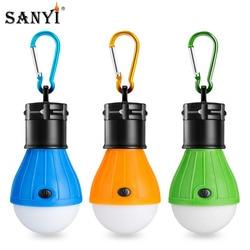 Tragbare Laterne Zelt Licht 3 LEDs Birne Notfall Lampe Wasserdichte Hängen Haken Taschenlampe Für Camping 3 Farben Verwenden 3 * AAA