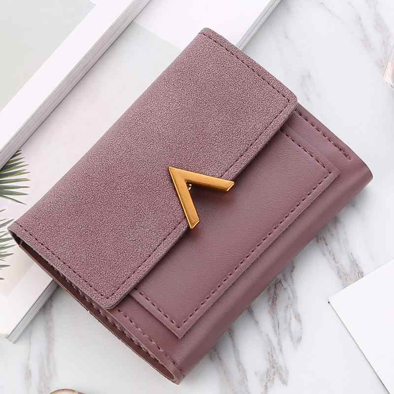 ffb715ce7 2019 New Matte Leather Women Small Wallet Carteira Mini Womens Wallets And  Purses Short Female Coin
