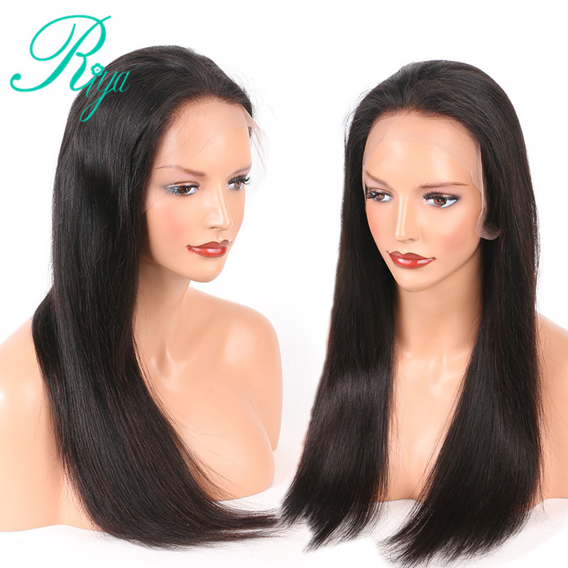 Lace Frontal Human Hair Wigs For Women Pre Plucked Wig With Baby Hair Remy Brazilian Straight