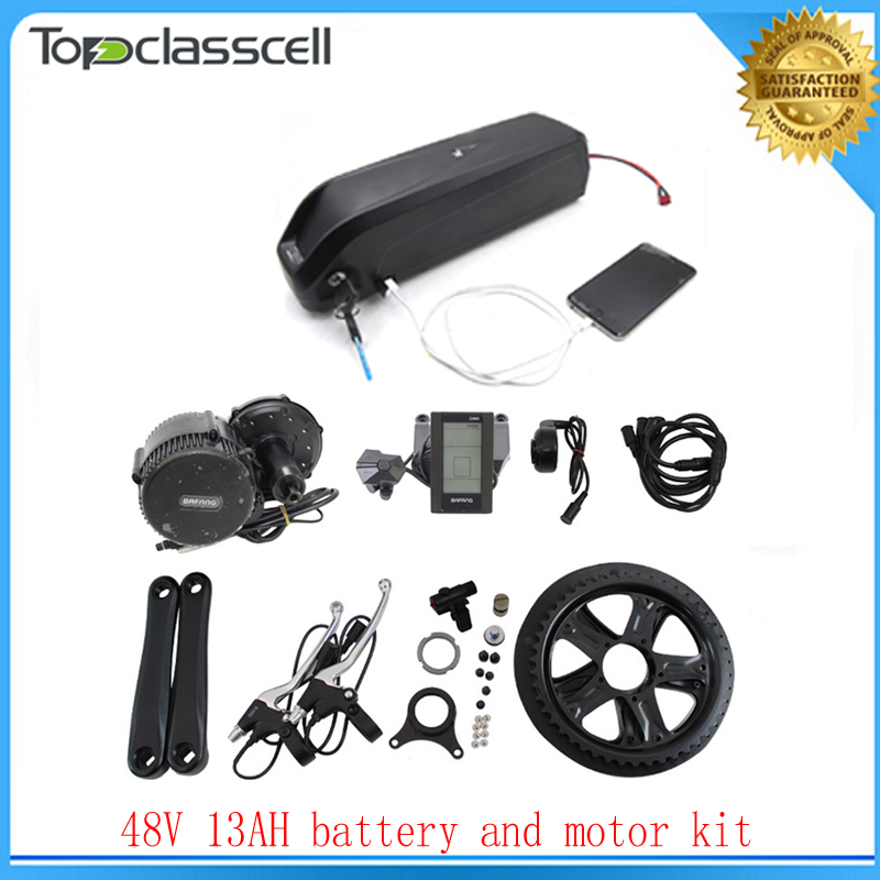 NO taxe Bafang BBS02 48V 750W Ebike Motor with C965 LCD 8FUN mid drive kit+ ebike battery 48V 13AH hailong electric bike battery free shipping 48v 15ah battery pack lithium ion motor bike electric 48v scooters with 30a bms 2a charger
