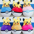 18cm Hot Pokemon Plush Toys Pikachu Papa Elf Ball Advanced Embroidery Plush 6 Colors Pokemon Go Pikachu Plush Doll Elf Ball Toy