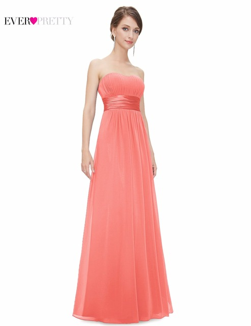 Clearance Sales Bridesmaid Dresses Ever Pretty HE09955 Strapless A Line 2017 New Floor Length