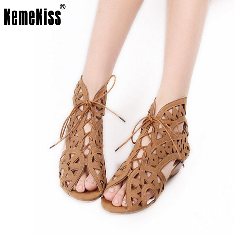 Big Size 34-43 Fashion Cutouts Lace Up Women Sandals Open Toe Low Wedges Bohemian Summer Shoes Beach Shoes Women долженко г и оригами первые шаги