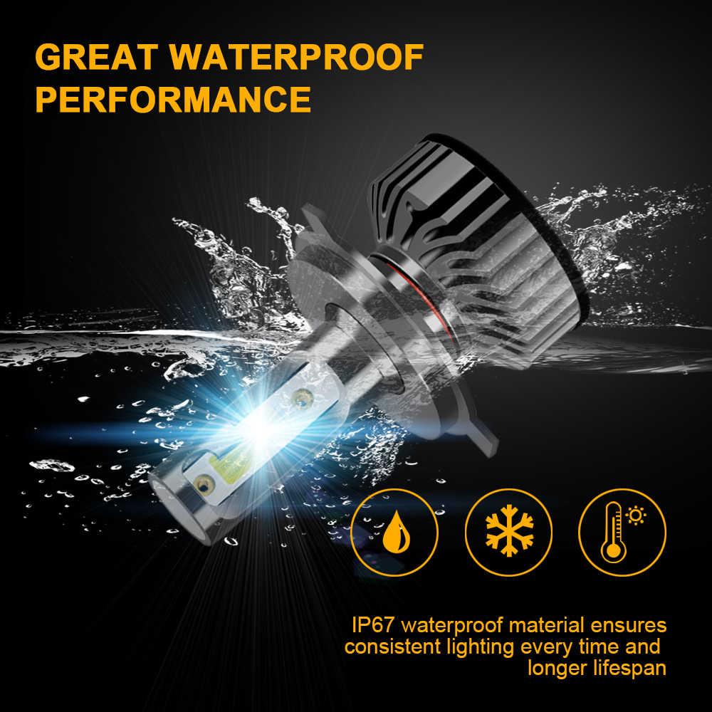 Mini H7 LED H4 Car Headlights H11 H3 9005 HB3 9006 HB4 9012 2PCS 60W 10000Lm Cars Led Lighting Replacement Bulbs 6000K 12V BJ
