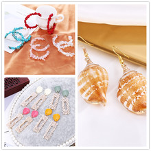Nature Stone Imitation Pearls Shell Drop Earrings &Delicate Stainless Steel Brincos For Sweet Women Clothing Accessories Gifts
