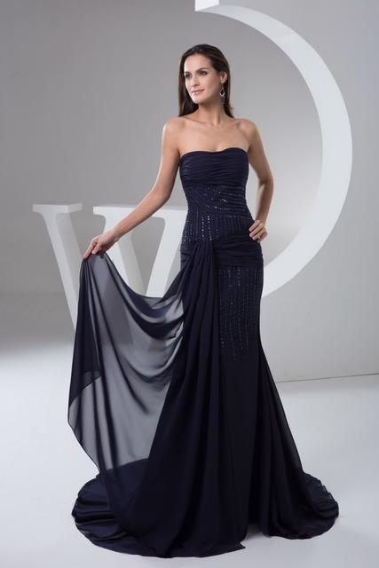 Robe de soirée grande taille longue avec longueur de plancher bretelles, De l'épaule robe de soirée