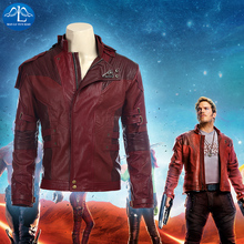 MANLUYUNXIAO Guardians Of The Galaxy Star Lord Cosplay Costume Leather Jacket Mens Halloween Carnival Costumes