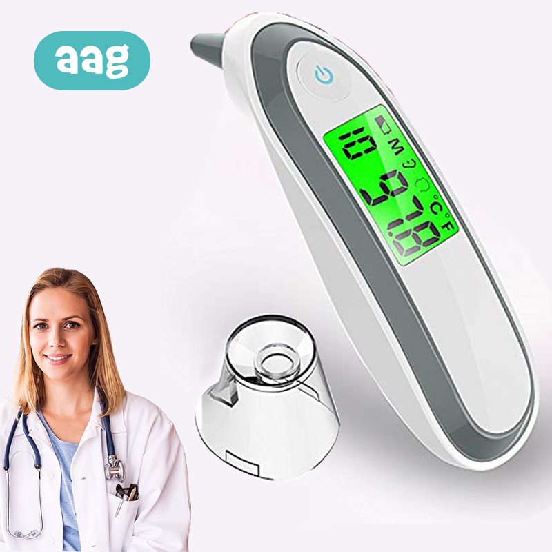 AAG Baby Digital Thermometer Medical Infrared LCD Ear and Forehead Children Adults Medical Temperature Measure IR Device 30