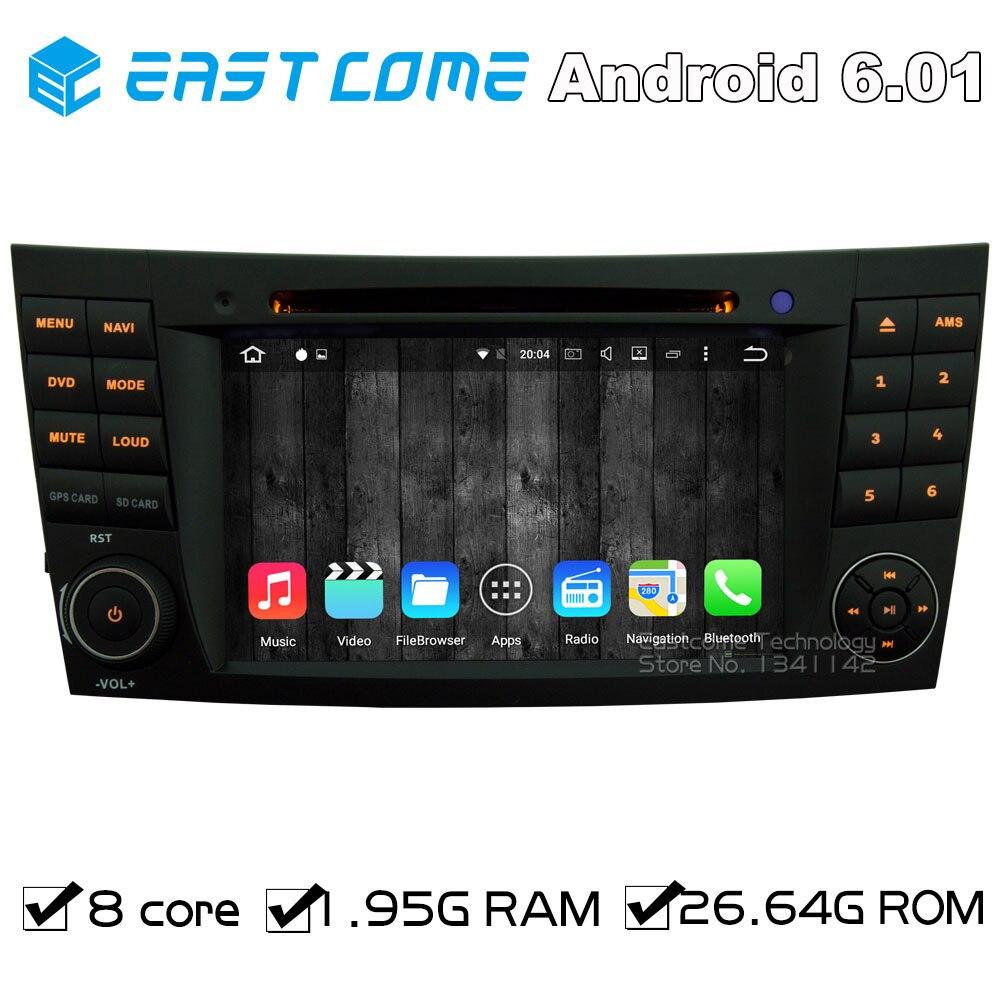 Octa Core 8 Core Android 6.0 Car DVD Player For Mercedes Benz E-Class W211 2002-2009 E200 E220 E240 E270 E280 With Radio GPS коврики в салон mercedes benz e class w211 задний привод 2002 2009 4 шт полиуретан серые
