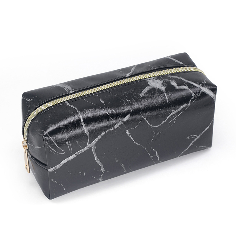 Marble Pencil Case Brand New Makeup Storage For Girls Big Cosmetic Bag Pencil Box Pencilcase Bag School Gift Stationery Supplies new leather pencil case bag for school boys girls vintage pencil case box stationery products supplies as gift for student