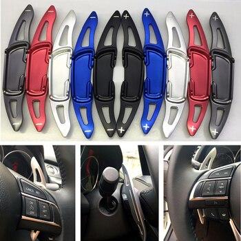 Ze stopu Aluminium ze stopu Aluminium łopatki zmiany biegów DSG na kierownicy dla Mazda 3 6 CX-3 CX-5 BM GJ Mazda3 Mazda6 CX5 wiosła akcesoria do skrzyni biegów