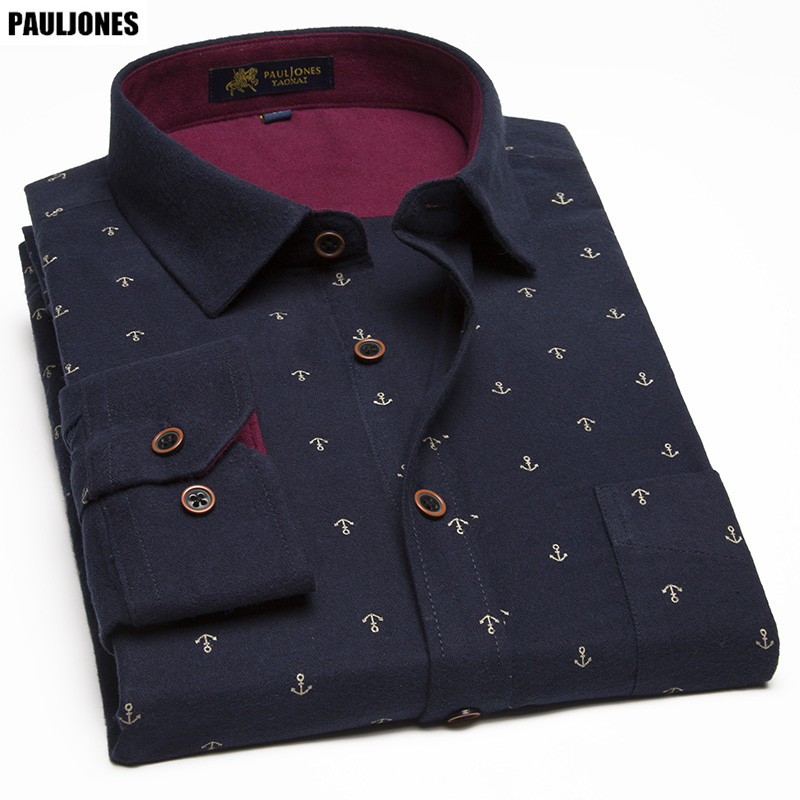 PaulJones DM90x 2017 Plus size 11XL New Model Fancy Print Men Shirts Big Size Male Blouse Men's Casual 100% Cotton Asian Clothes