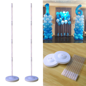 Cyuan Birthday Balloon Column Kit Plastic Balloon Arch Stand with Base and Pole for Birthday Party Latex Ballons Holder Wedding(China)