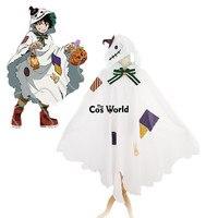 Boku No Hero Academia My Hero Academia Midoriya Izuku Halloween Hallowmas Cloak Cape Tops Uniform Outfit Cosplay Costumes