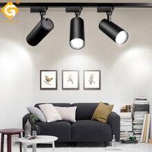 купить Modern 2 Wire Led Track Light Lamp For Store Home Clothing Shop Window Lighting Track Lights Fixture Rail COB Spotlights System по цене 984.03 рублей