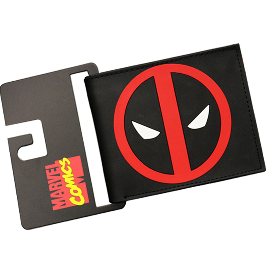 Popular Comic DEAD POOL Wallets Ultra-slim Short Men Wallets PU&PVC Leather Purse Dollars Price Drop Shipping Photo Card Holder bogesi men s wallets famous brand pu leather wallets with wallet card holder thin slim pocket coin purse price in us dollars