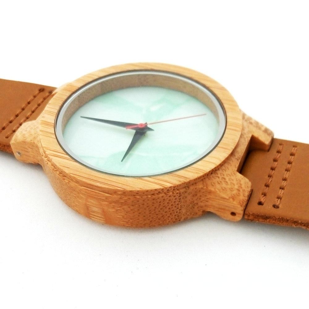Բամբուկե փայտյա ժամացույցներ - Կանացի ժամացույցներ - Լուսանկար 5