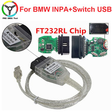 Newly For BMW INPA K+CAN With FT232RL Chip K CAN Switch For BMW INPA K DCAN USB Interface OBD OBD2 Cable Car Diagnostic Tool
