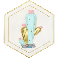 ROOGO Cactus Wall Hanging Colorful Home Decor Office Background Decoration Different Forms Gift For Adult Unique