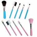 Fashion Mini 5 Unids Rosa Pinceles de Maquillaje Herramientas de Cosméticos Sombra de Ojos y cara Labial Kit de Cepillo Del Maquillaje Se Ruboriza Cepillo Suave nueva
