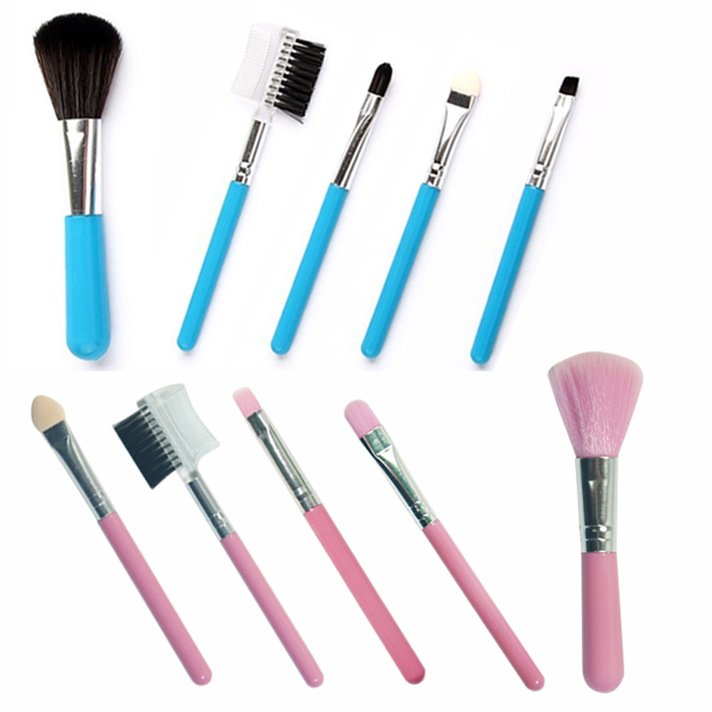 Aliexpress.com : Buy Fashion Mini 5Pcs Pink Makeup Brushes Cosmetics Tools Eyeshadow Eye & Face ...