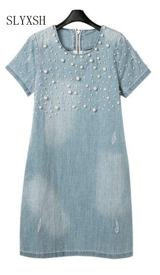 Summer M-5XL Denim Maternity Dresses Clothe For Pregnant Women Clothing O-neck Short Sleeve Pregnancy Dress Wear