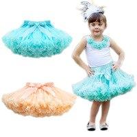 Autumn 2019 Europe trade children's Tutu skirt girls Princess dance pettiskirts ball gown 2 color green apricot