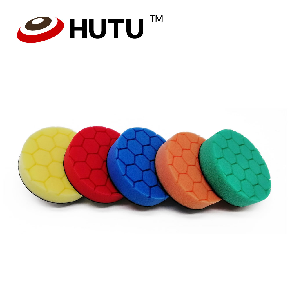 Car Polish Pad 4 Inch 100mm Hexagon Pattern Compound Buffing Pads Kit For Car Buffer Polisher