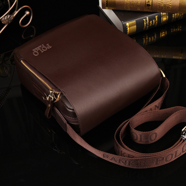 Fashion Business PU Leather Men Messenger Bags Promotional Crossbody Shoulder Bag Casual Man Bag 2