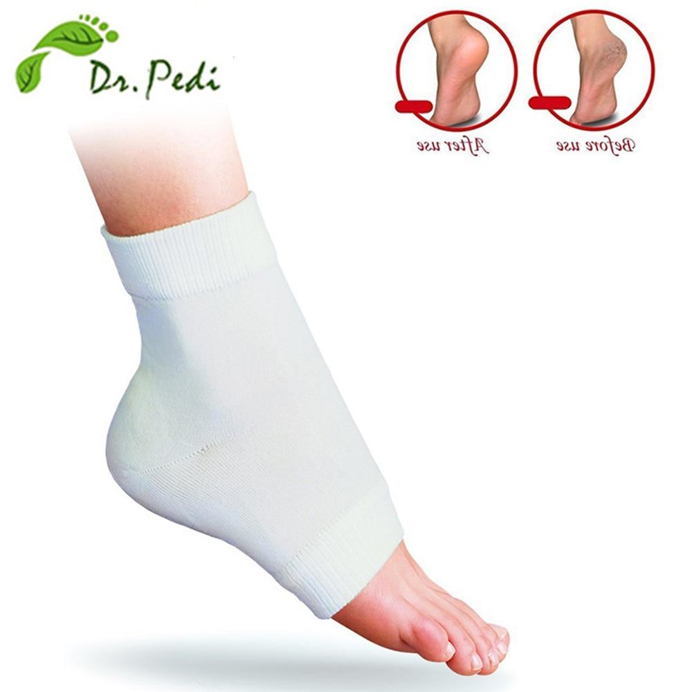 Ayak bakımı aracı Nemlendirici silikon jel pedikür çorap Ayaklar Spa Topuk Masajı Için Turta Çorap Pedikür Için (2 parça = 1 Çift)