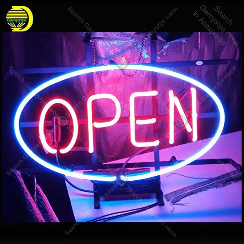 Recreation Room OPEN Neon Sign Neon Bulbs Sign Beer Bar Pub Handcrafted Glass Tube signboard Neon Light Sign enseigne lumineuse four colors atari neon sign neon bulb sign glass tube neon light recreation club pub iconic sign advertise arcade lamp wholesale