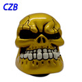 New Universal Manual Gear Stick Shift Shifter Lever Knob Wicked Carved Gold Skull pomo marches fastshipping