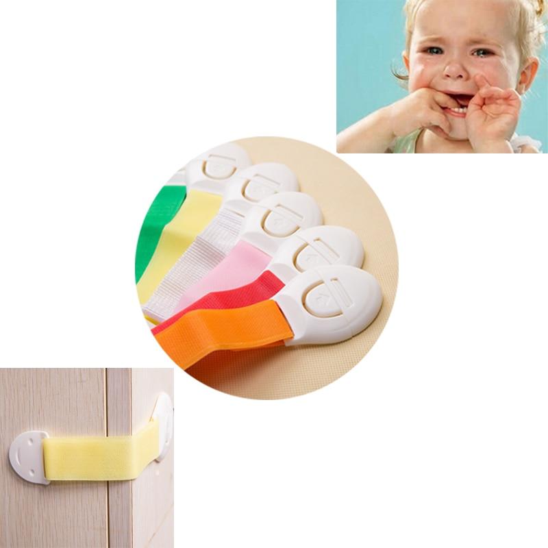 10 Unids/lote Protección de Seguridad Del Bebé de Bloqueo de Protección de Niños Castillo Bloqueador Puertas Cajones Seguridad Bloqueo Para Niños de Los Niños