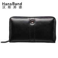 HANSBAND Men Handbags Fashion Genuine Leather Bag HandbagsHigh capacity Men Clutch Bags Brand Hand Bag Luxury Business Package