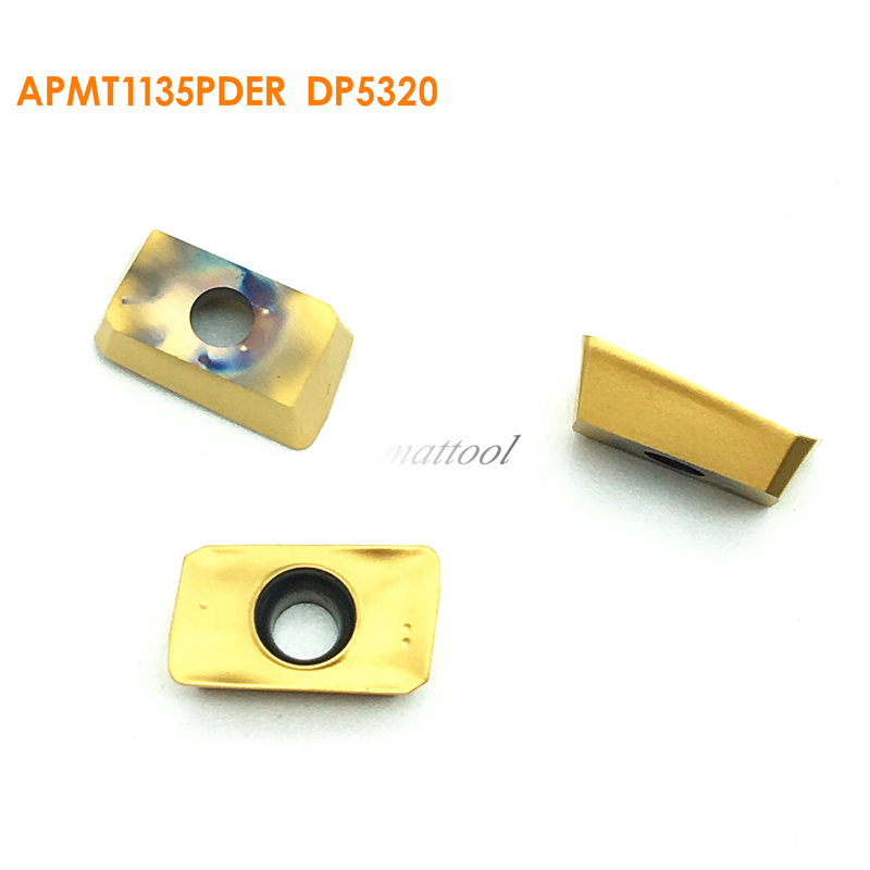 Free shipping for 10Pcs APMT1135PDER DP5320 Duracarb Carbide Insert Lathe Milling Mill cnc tools milling cutter