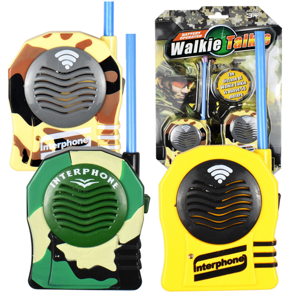 2pcs/lot Intercom Electronic Toy Walkie Talkies Family Play Two-Way Radio Interphone toys electronic Came