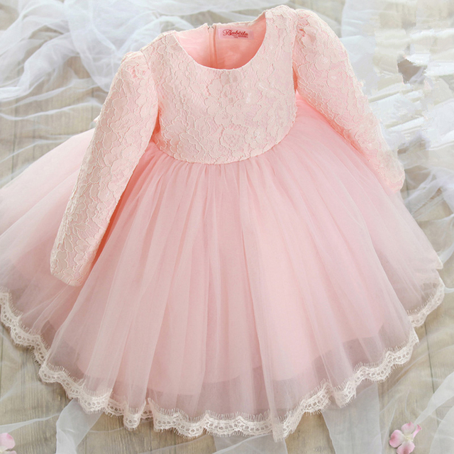2016 new children autumn and winter girl Princess Dress baby dress full sleeve cute dress 18M-8T
