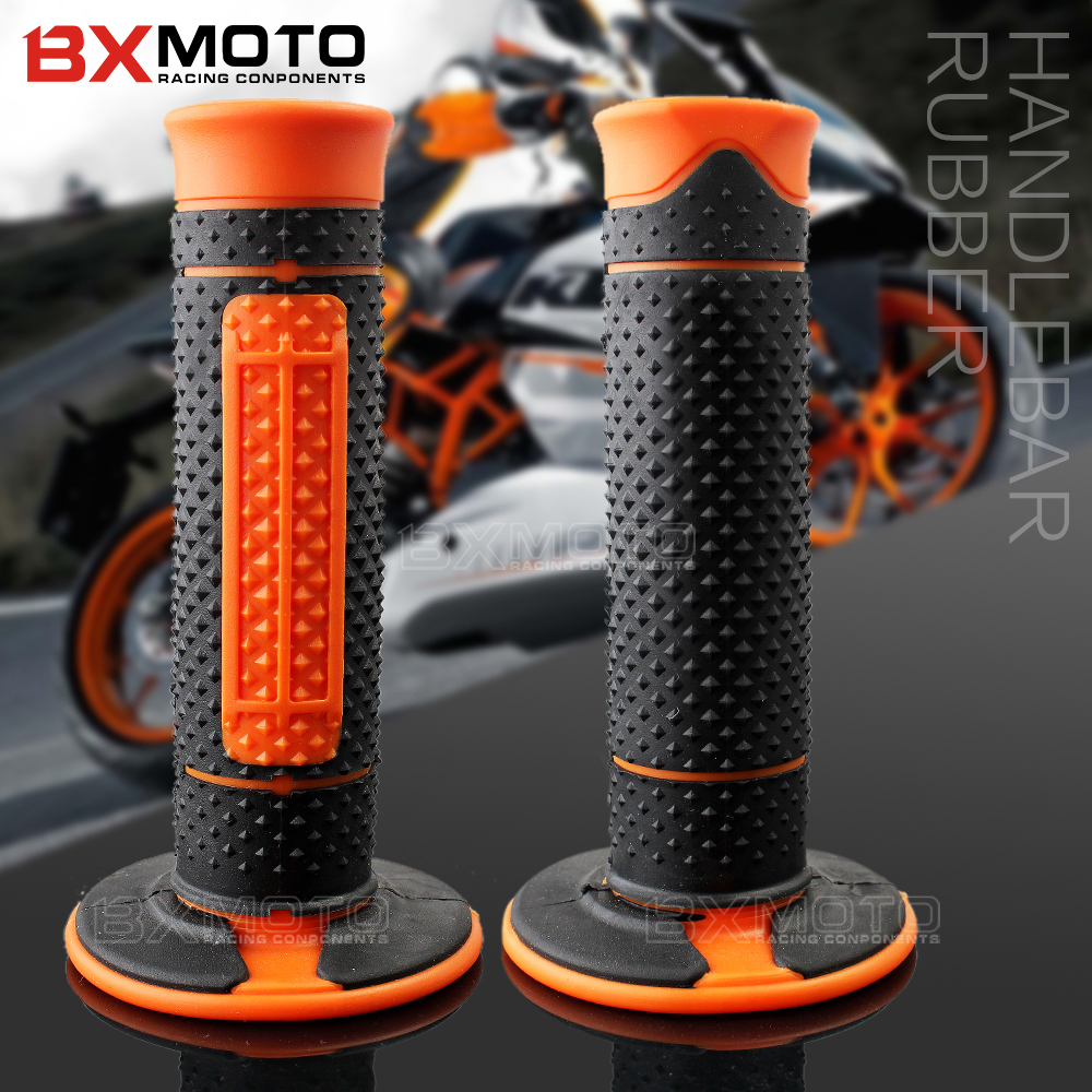 все цены на 1 Pairs Motorcycle Rubber Handlebar Grips Hand Grips Handle Bar Grip Pit Dirt Bike for KTM 990 125/200/390 DUKE KTM990 motorbike